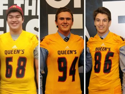 Queen's adds three more recruits to roster