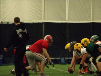 Tanner Borsch in practice at FPC camp