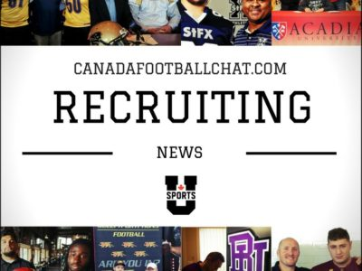 U Sports recruiting wrap (4): Official visits to the west coast, more coaching changes, and CFC100's continue to go to east coast