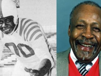 Ezzrett (Sugarfoot) Anderson died at age 97. He's known as a trail blazer for black football players in both Canada and the United States. (Calgary Stampeders)