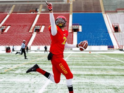 Simonise earned All-Canadian honours last season with 51 catches for 1,079 yards and 11 touchdowns in eight games (Jeff McIntosh/AP)