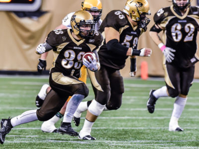Winnipeg, Manitoba - Bisons Football vs Alberta Golden Bears October 23. Jeff Miller-Bison Sports-