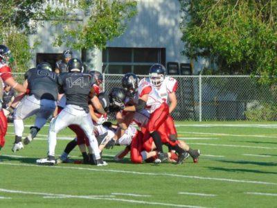Central Alberta Buccaneers, Bucs take on water with Gators, 28-7