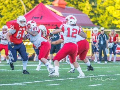 In action against Team Canada at the 2017 IFAF Women's Worlds (Credit: Diz Ruptive Photography)